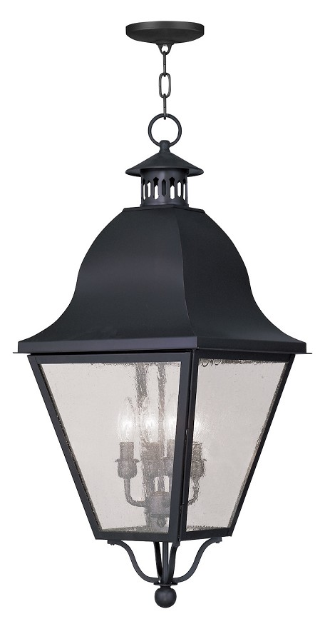 Black Amwell Outdoor Pendant With 4 Lights