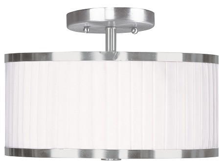 Brushed Nickel Park Ridge 2 Light Semi-Flush Ceiling Fixture