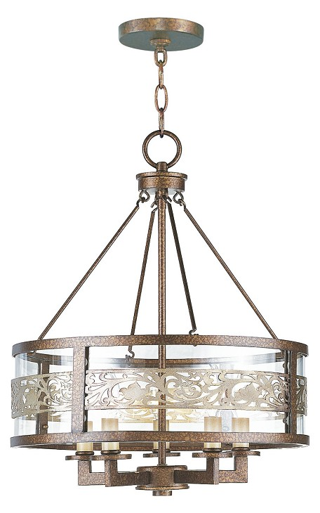 Palacial Bronze Waverly 5 Light 1 Tier Chandelier