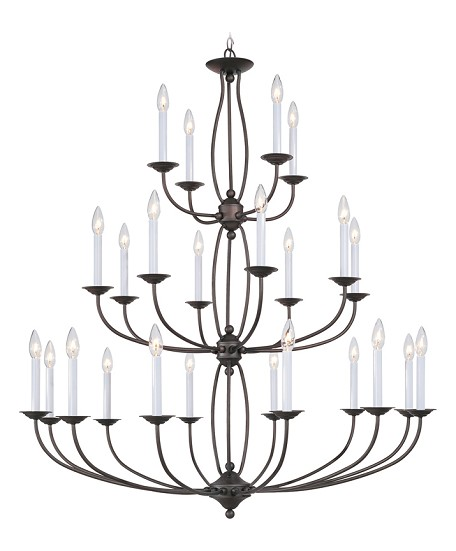 Bronze 24 Light 960W Chandelier with Candelabra Bulb Base from Home Basics Series