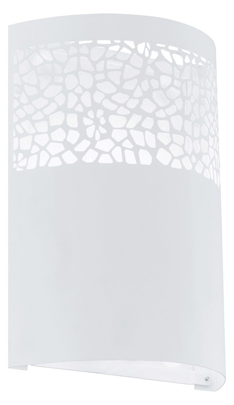 Eglo One Light White Wall Light - 91416A