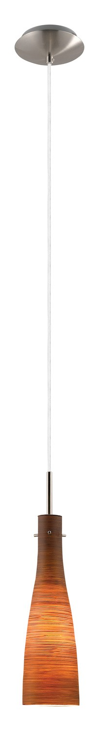 Eglo One Light Nickel Down Mini Pendant - 88232A
