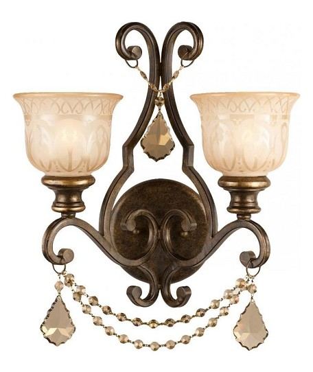 "Norwalk Collection 2-Light 16"" Bronze Umber Wall Sconce 7502-BU-GT-MWP"