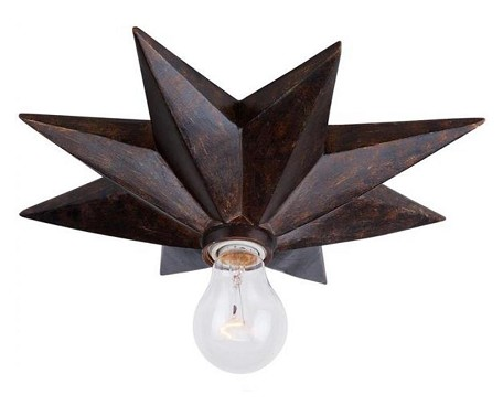 "Astro Collection 1-Light 12"" English Bronze Flush Mount 9230-EB"