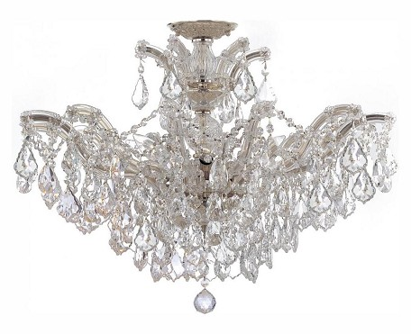 "Maria Theresa Collection 6-Light 27"" Polished Chrome Chandelier with Swarovski Elements Crystal 4439-CH-CL-S"