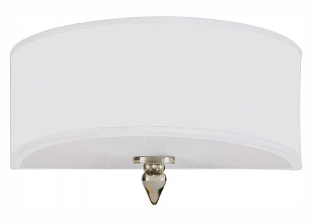 "Luxo Collection 2-Light 12"" Satin Nickel Wall Sconce with Organza 9502-SN"