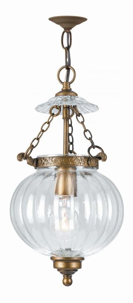 "Camden Collection 1-Light 8"" Antique Brass Pendant 5781-AB"