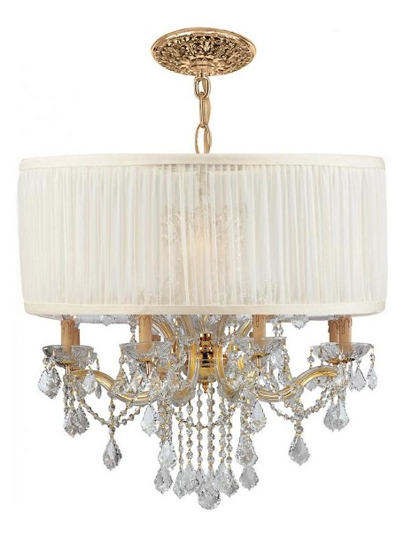 "Brentwood Collection 12-Light 30"" Gold Chandelier with Swarovski Spectra Crystal 4489-GD-SAW-CLQ"