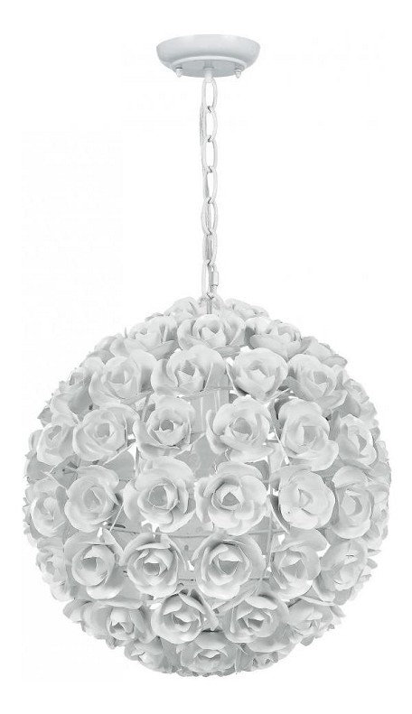 "Cypress Collection 1-Light 14"" Wet White Mini Chandelier 537-WW"