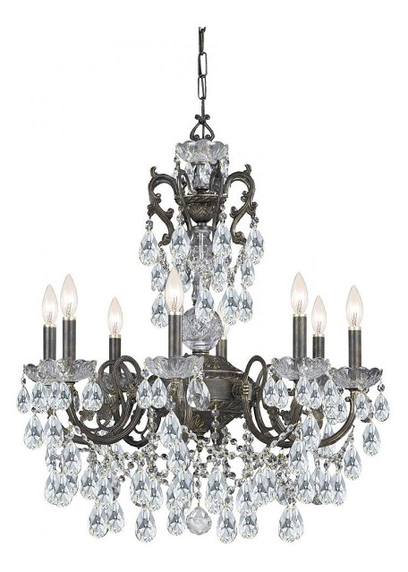 "Legacy Collection 6-Light 23"" English Bronze Chandelier with Hand Polished Crystal 5196-EB-CL-MWP"
