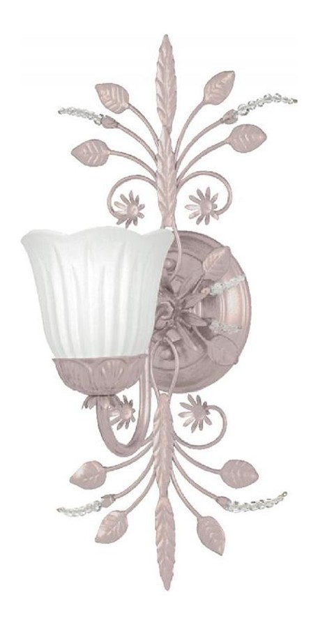 "Paris Flea Market Collection 1-Light 6"" Blush Wall Sconce with Swarovski Spectra Beads 4741-BH"