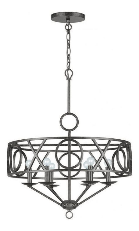"Odette Collection 6-Light 25"" English Bronze Chandelier 9246-EB"