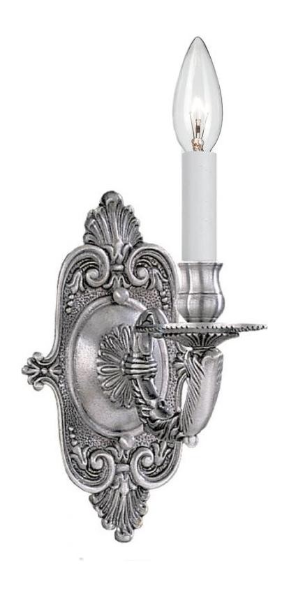 "Arlington Collection 1-Light 5"" Pewter Wall Sconce 641-PW"