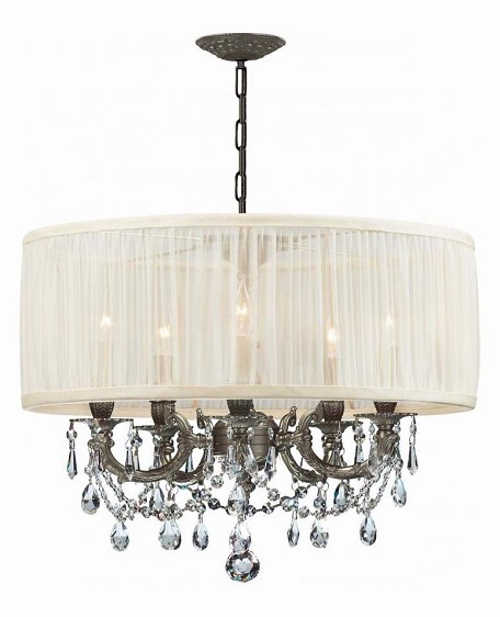 "Gramercy Collection 5-Light 20"" Pewter Mini Chandelier with Swarovski Spectra Crystal 5535-PW-SAW-CLQ"