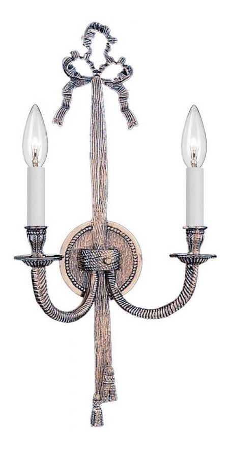 "Arlington Collection 2-Light 8"" Pewter Wall Sconce 658-PW"