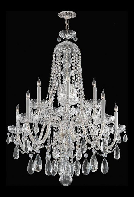 "Traditional Crystal Collection 10-Light 32"" Polished Chrome Chandelier with Swarovski Elements Crystal 1110-CH-CL-S"