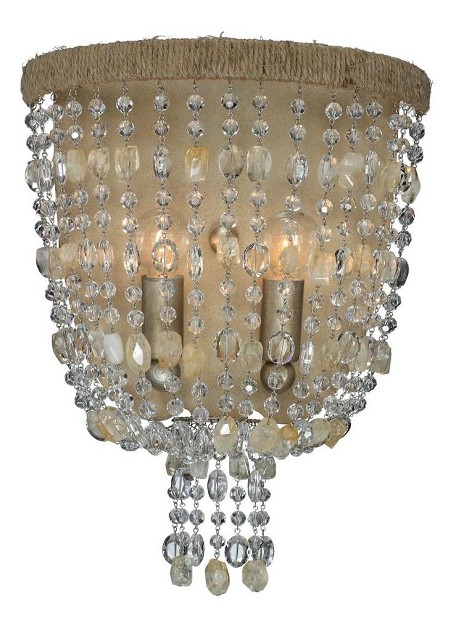 "Eva Collection 2-Light 10"" Burnished Silver Wall Sconce 262-BS"