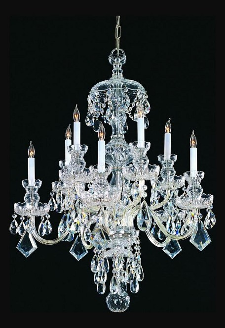 "Traditional Crystal Collection 10-Light 28"" Polished Chrome Chandelier with Swarovski Elements Crystal 1140-CH-CL-S"