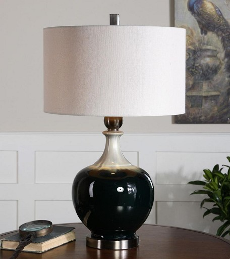 Dark Bronze With Aged Ivory Cadeo 1 Light Table Lamp