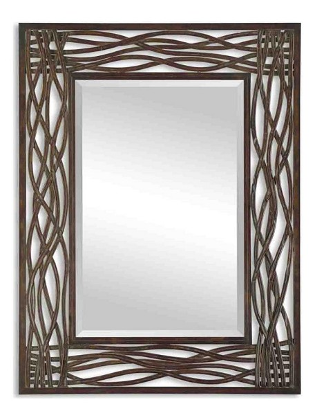 Dorigrass Collection Brown Metal Mirror 13707