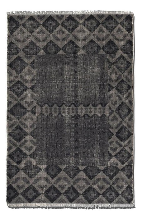 Aged Charcoal 6 x 9 Aegean Hand Knotted Wool Rug
