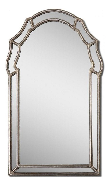 Antiqued Silver Leaf Petrizzi Arched Mirror
