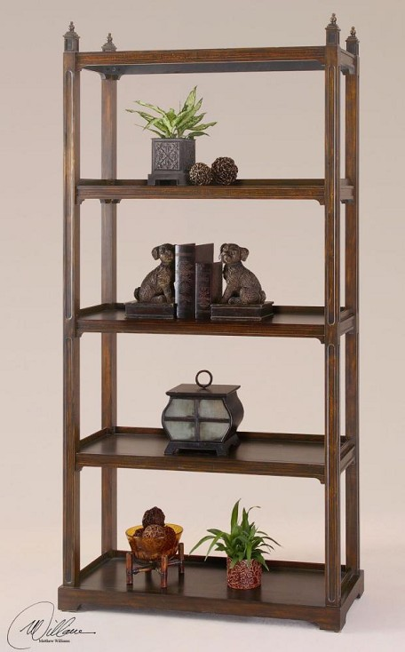 Dark Bourbon Brearly Etagere