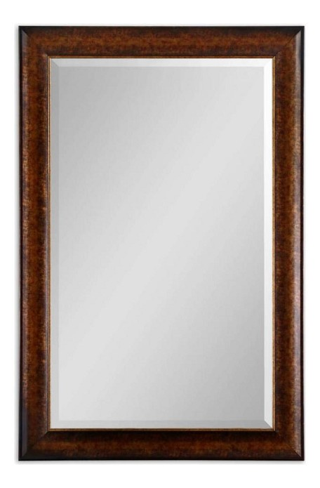 Rustic Bronze Healy 38In. Mirror With Silver Undertones And 1-1/4In. Bevel