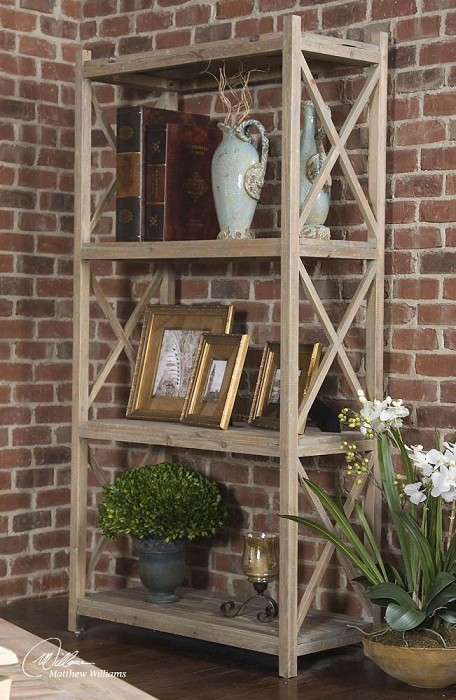 Stratford Collection Reclaimed Wood Etagere 24248