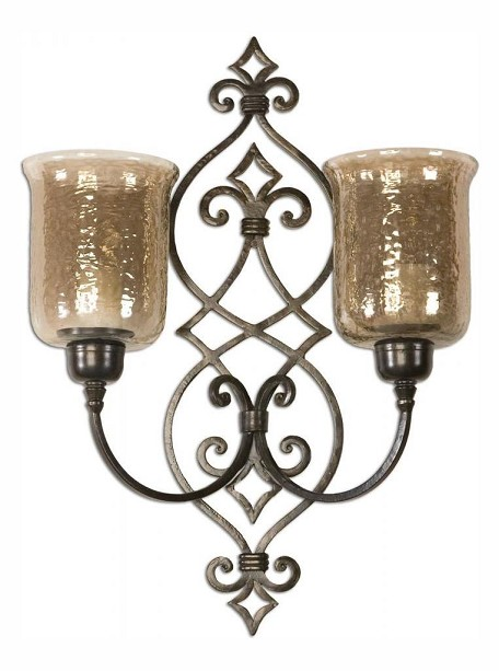 Antique Bronze Sorel Double Wall Sconce