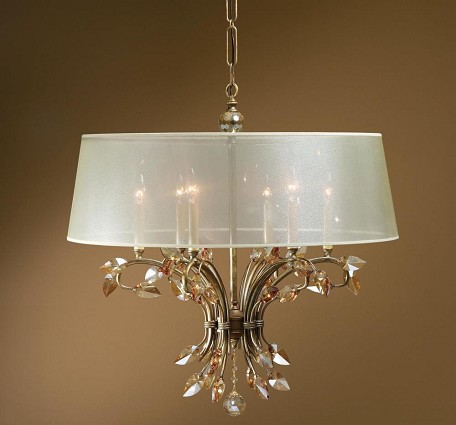 Burnished Gold Alenya 6 Light Single Tier Chandelier