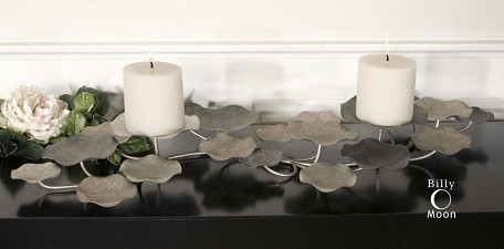 Champagne Silver Lying Lotus Candleholder