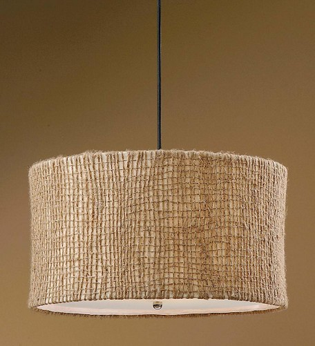 "Burleson Collection 3-Light 22"" Open Weave Natural Twine Pendant 21935"