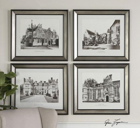 English Cottage Collection Wall Art (Set of 4) 41366