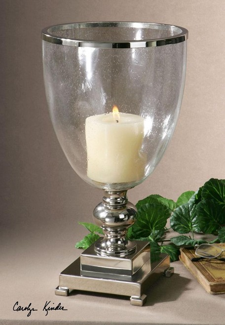 Nickel Lino Candle Holders