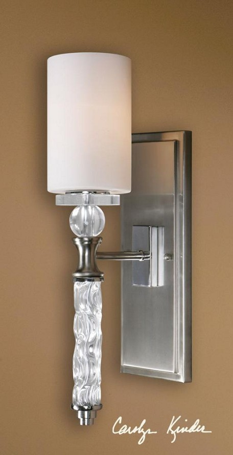Brushed Nickel Campania 1 Lt  Wall Sconce