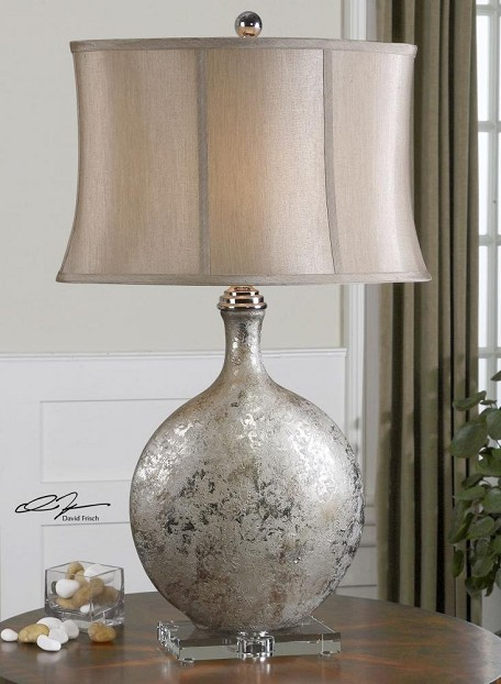 Metallic Silver Navelli Table Lamp