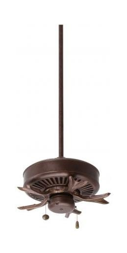 Three Light Gilded Bronze Fan Motor Without Blades