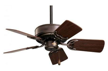 "Northwind Collection 29"" Oil Rubbed Bronze Ceiling Fan with Dark Cherry/Walnut Blades CF702ORB"