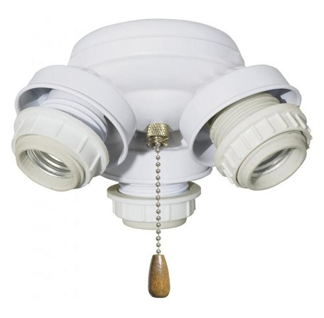 Appliance White 3 Light Turtle Fitter Ceiling Fan Light Kit