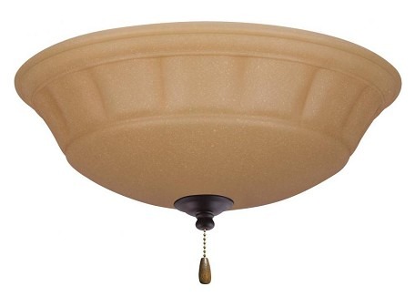 Emerson Fans Three Light Oil Rubbed Bronze Amber Scavo Glass Bowl Flush Mount - LK140ORB