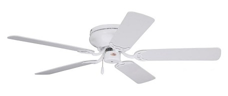 "Snugger Collection 42"" Appliance White Ceiling Fan with Appl. White/Bleached Oak Blades CF804SWW"