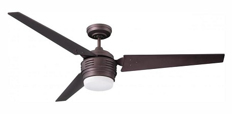 Emerson Fans Two Light Oil Rubbed Bronze Opal Matte Glass Ceiling Fan - CF766ORB