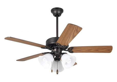"Pro Series II Collection 42"" Oil Rubbed Bronze Ceiling Fan with Dark Cherry/Medium Oak Blades and Alabaster Swirl Light Kit CF710ORB"