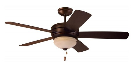 Emerson Fans Three Light Venetian Bronze Amber Mist Glass Ceiling Fan - CF850VNB