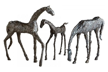 Decorative Walking Horse Sculpture