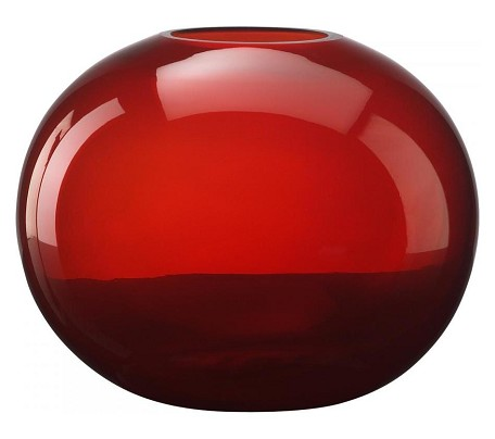 Red 9.75In. Large Red Pod Vase