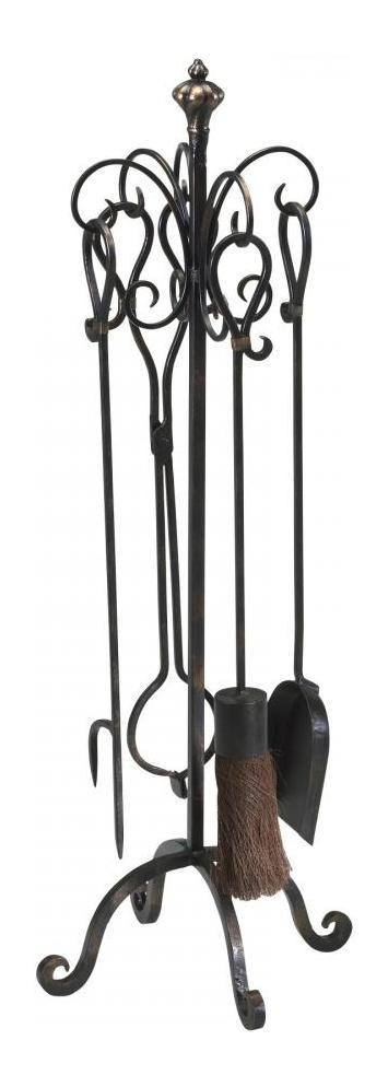Scroll Hearth Stand And Tools 01348