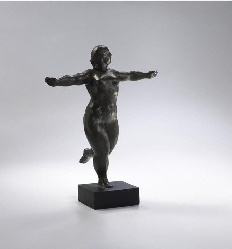 Decorative Bronze 12In. Dancing Lady