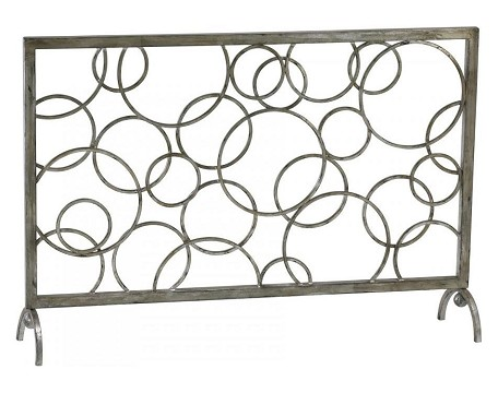 Silver Leaf 28in. Circle Fire Screen
